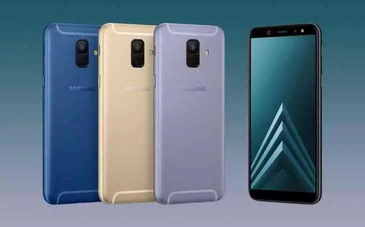 Samsung Galaxy A6 série recebe uma atualização antes do lançamento 1