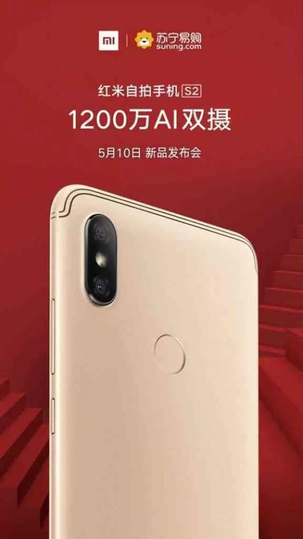 Xiaomi Redmi S2 com AI e dupla câmara revelado em poster 1