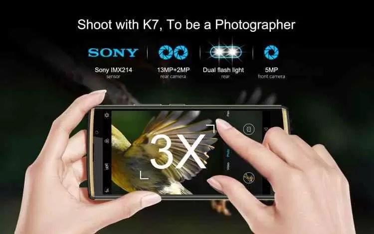 OUKITEL K7 com sensor Sony IMX214 13MP e 10000mAh de bateria 1