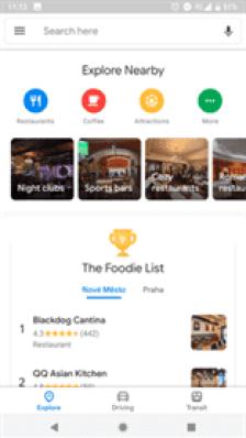 Google Maps com novo material design em muitos dispositivos Android 1