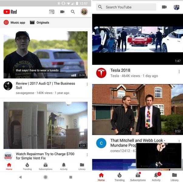 Google testa nova interface do YouTube para Android com barra de pesquisa na parte superior e mais 2