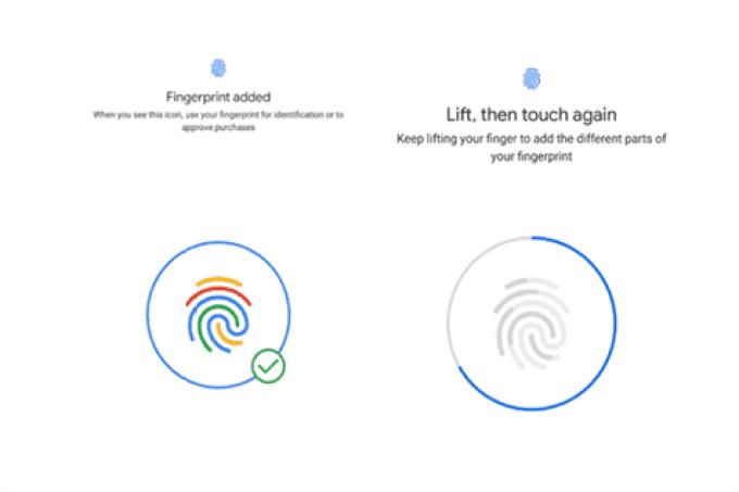 Versão beta 3 do Android P chega com nova animação de registo de impressões digitais 1