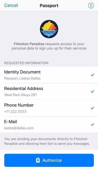 Telegram apresenta o Passport, uma maneira de armazenar informações pessoais on-line 1