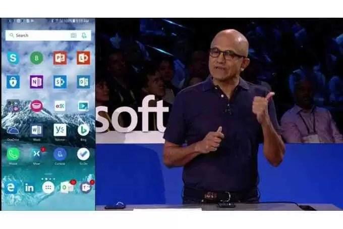 CEO da Microsoft exibe orgulhosamente software em iOS e Android 1