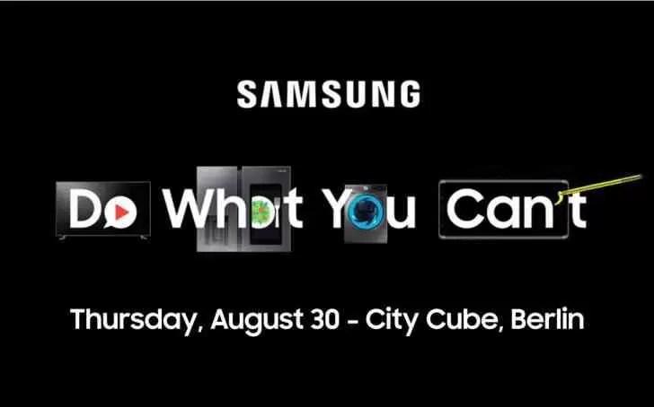 Samsung envia convites para conferência de imprensa da IFA a 30 de agosto 1
