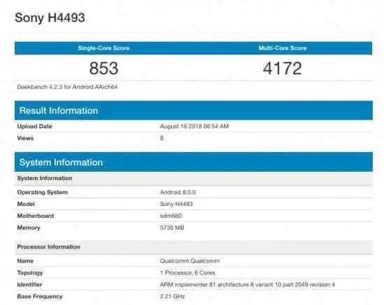 Sony Xperia XA3 mostra-se no Geekbench com Snapdragon 660 1