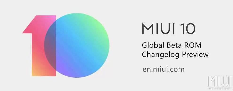 MIUI 10 beta ROM 8.9.20 atualização global introduz um monte de correções de bugs 1