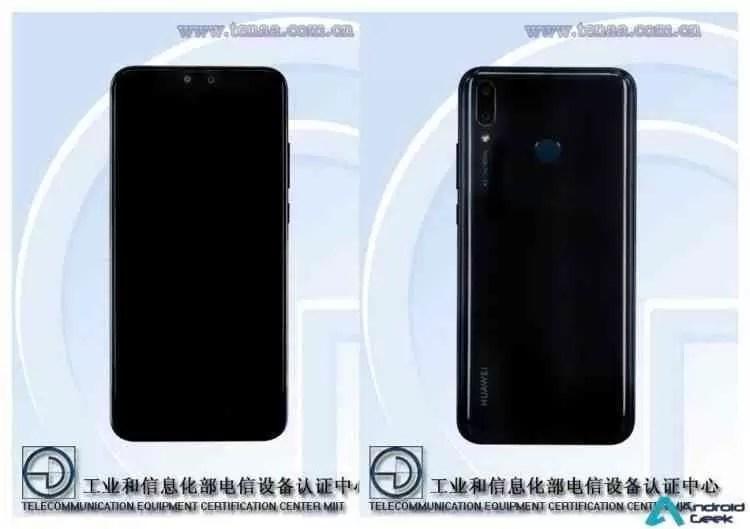 Huawei Y9 2019 especificações listadas na TENAA, quase igual ao Honor 8X 2