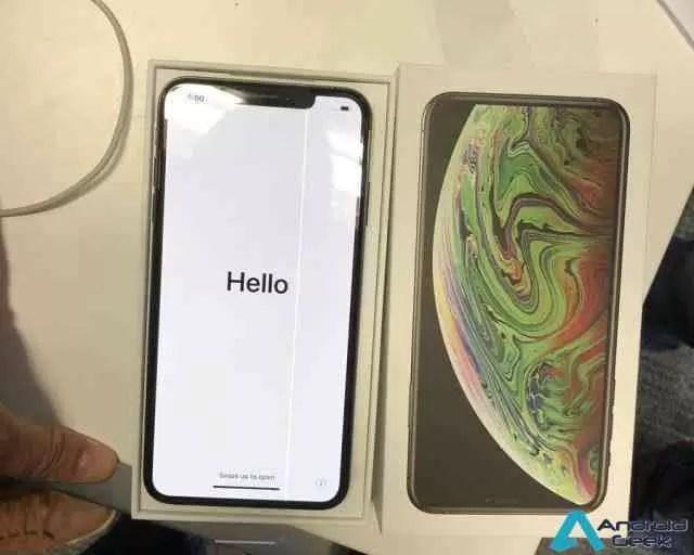 iPhones não avariam? iPhone XS Max com ecrã defeituoso aparece on-line 1