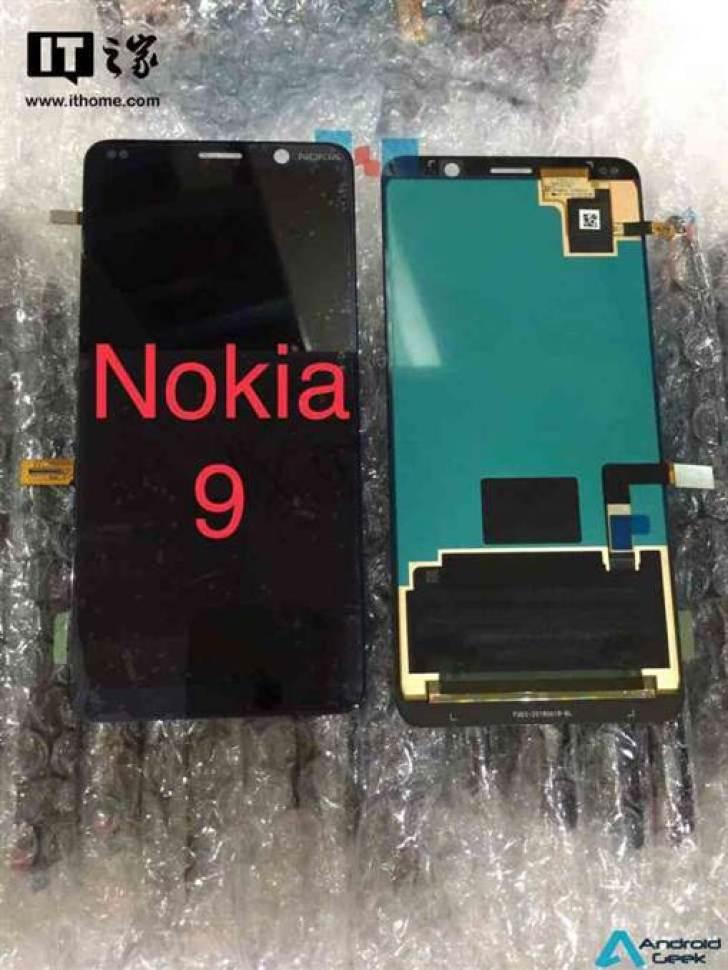 Painel frontal do Nokia 9 e Nokia X7, em fuga de informação sem Notch image