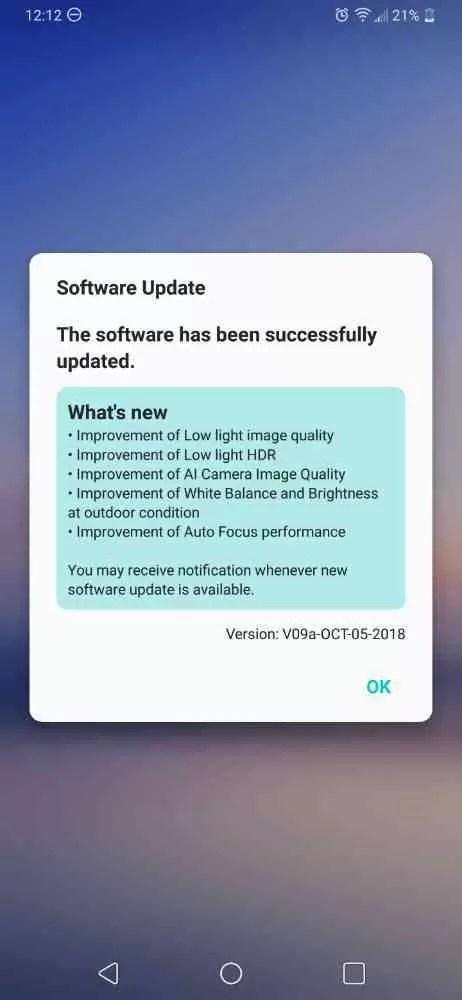 Update LG V40 pretende aumentar o desempenho da câmara 2