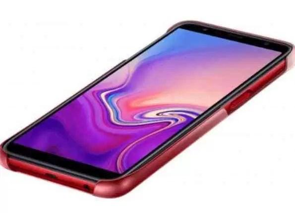 Capas Samsung Galaxy J4 +, J6 + e A7 (2018) com acabamento gradiente em fuga de informação 5