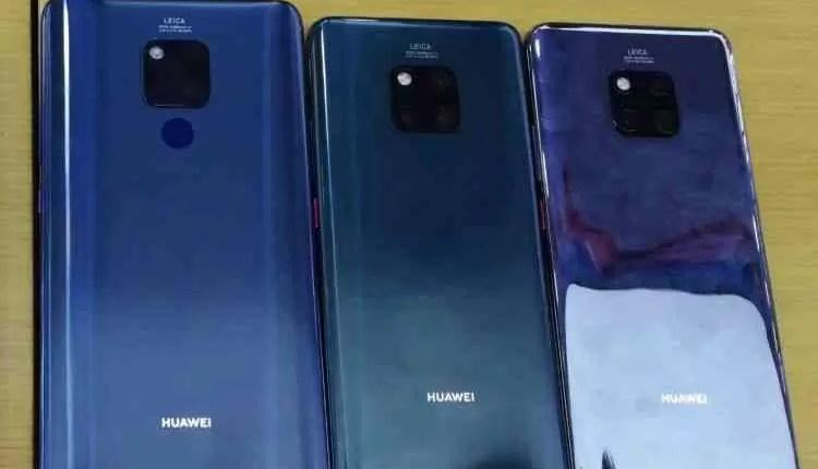 Huawei Mate 20, Mate 20 Pro e Mate 20 X são comparados em fuga de informação 2