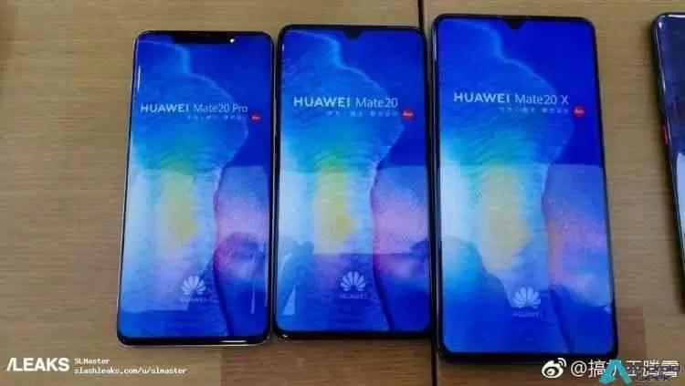 Huawei Mate 20, Mate 20 Pro e Mate 20 X são comparados em fuga de informação 1
