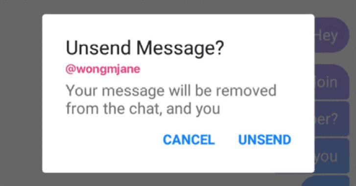 Facebook Messenger vai permitir que os utilizadores apaguem mensagens enviadas 2