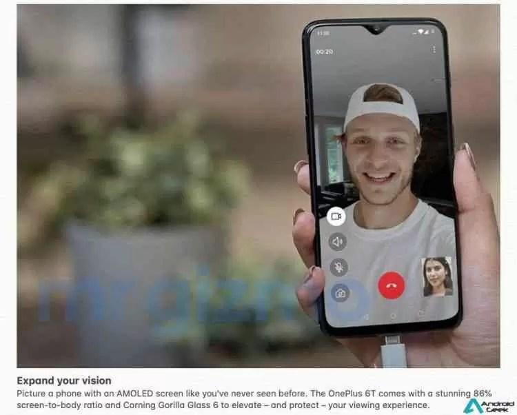 Especificações completas do OnePlus 6T com imagens promocionais foram reveladas! 2