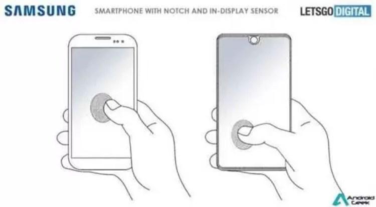 Patente Samsung mostra smartphone com entalhe e scanner de impressão digital 1