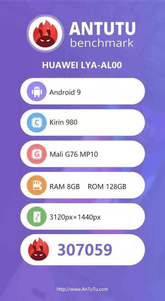 Benchmarks AnTuTu da Huawei Mate 20 Pro