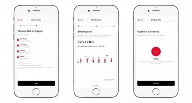 Atualização OnePlus Switch adiciona suporte para transferência de dados de iPhone 2