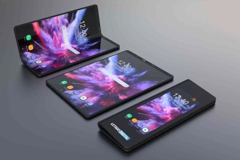 Smsung telefone dobrável 3D renders_1