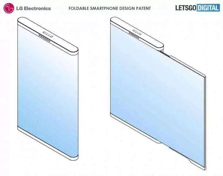 Nova patente mostra o smartphone dobrável da LG num conceito muito interessante 1