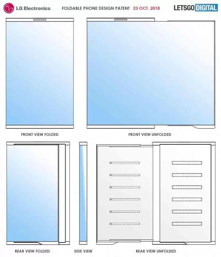 Nova patente mostra o smartphone dobrável da LG num conceito muito interessante 2