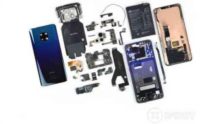 Desmontagem do Huawei Mate 20 Pro revela uma difícil reparação 1