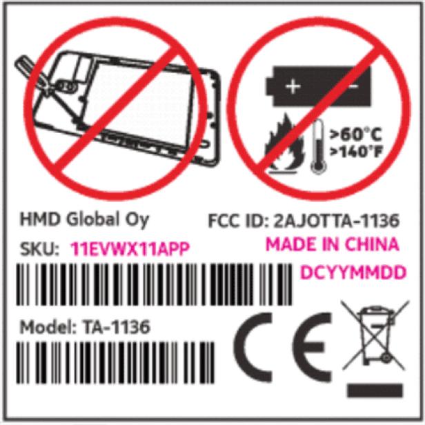 Nokia TA-1136 FCC