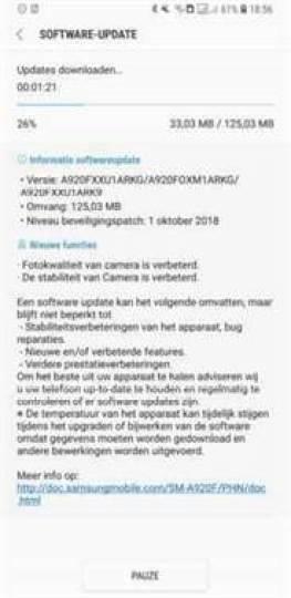 atualização de software galaxy a9 (2018)