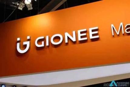 O logotipo do Gionee.