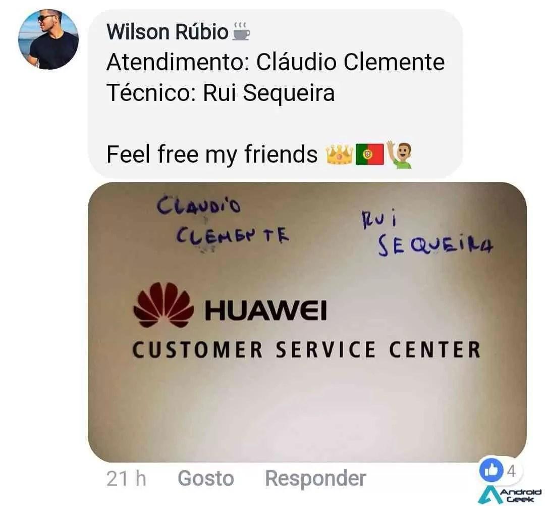 Huawei marca pontos junto dos consumidores com um Service Center de excelência 5