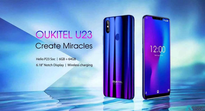 OUKITEL U23 Especificações completas reveladas, carregamento wireless e 6GB RAM 1