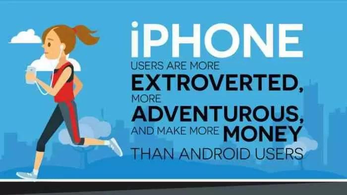 Utilizadores do iPhone são mais extrovertidos, aventureiros e ricos que os de Android 1