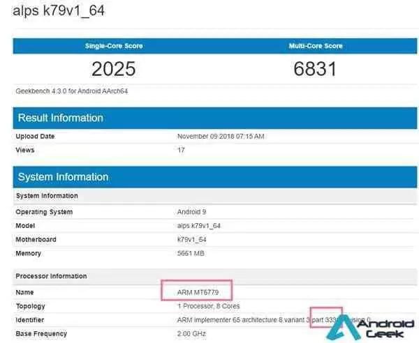 Mediatek MT6779 provável Helio X40 visto em benchmarks 1