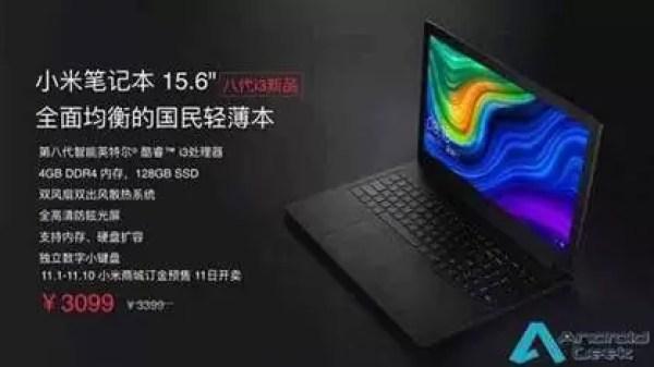 Notebook Xiaomi com Processador Intel Core i3 Lançado a €431 1