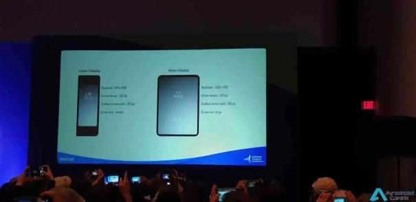 Resolução de ecrã de smartphone dobrável da Samsung revelada na SDC 1