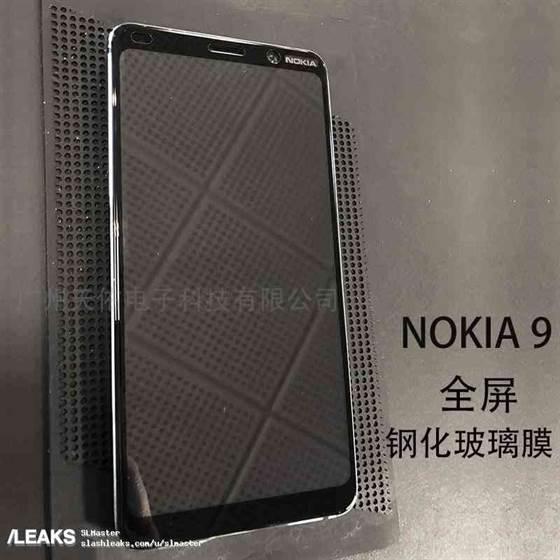 Parte superior frontal do Nokia 9 revelado nas primeiras fotos do telefone com 5 câmeras traseiras 1
