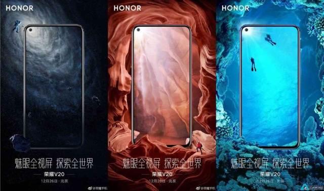 Honor V20 posters revelam que vai ter uma bateria enorme e uma câmara selfie impressionante 1