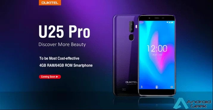 OUKITEL tem um novo telefone gradiente, 4GB / 64GB de memória por apenas US $ 99,99 1