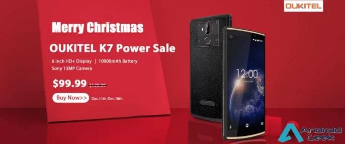 OUKITEL K7 Power inicia a venda de Natal, Smartphone de 10000mAh custa apenas US $ 99,99 1