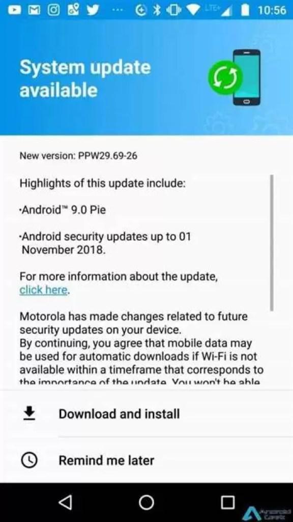 Moto X4 com Android 9 Pie via OTA disponível na Europa também 2