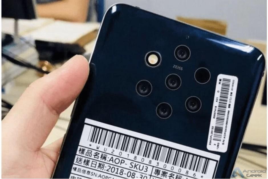 Novas imagens do Nokia 9 PureView com 5 câmaras e sensor de impressão digital no ecrã 1
