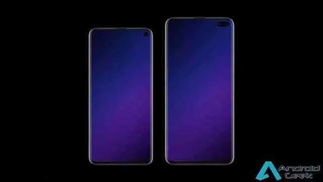 Protetor de ecrã Samsung Galaxy S10 + confirma camera frontal dupla no ecrã 1