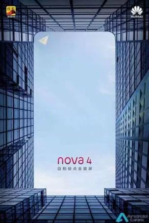 Novos teasers do Huawei Nova 4, revelam design antes do seu lançamento 6