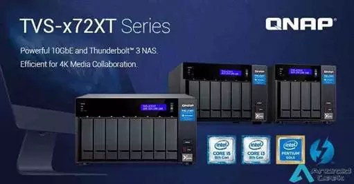 QNAP lança o poderoso NAS TVS-x72XT com 10GbE e Thunderbolt 3 1