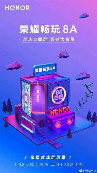 Honor 8A aparece em fuga de informação e deixa adivinhar lançamento iminente 3