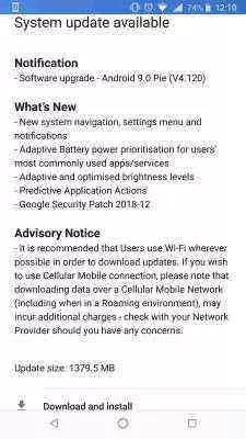 Nokia 8 Sirocco a obter a atualização do Android 9 Pie (download de 1,4 GB)