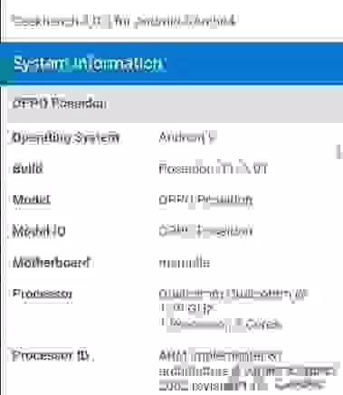 OPPO Poseidon com SD 855 descoberto no base de dados Geekbench 5