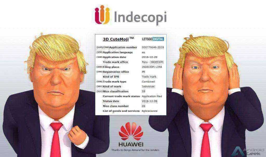 Huawei regista marca 3D CuteMoji que pode aparecer na série P30 1