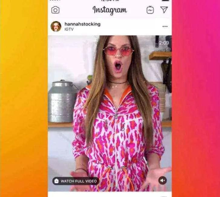 Instagram agora mostrará vídeos IGTV na sua TimeLine 1